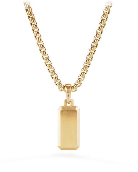 Streamline Men's 18k Gold Amulet