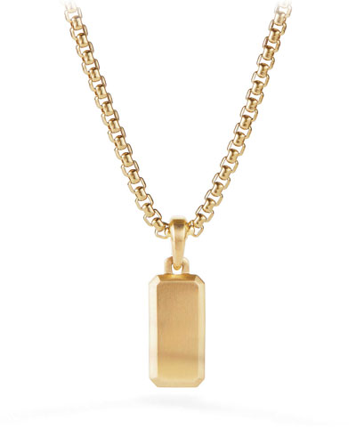 Streamline Men's 18k Gold Amulet