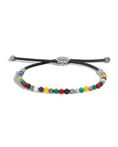 Men's Classic Chain Mixed Bead Adjustable Bracelet