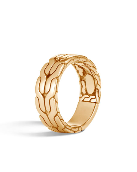 John Hardy Mens Classic Chain 18k Ring