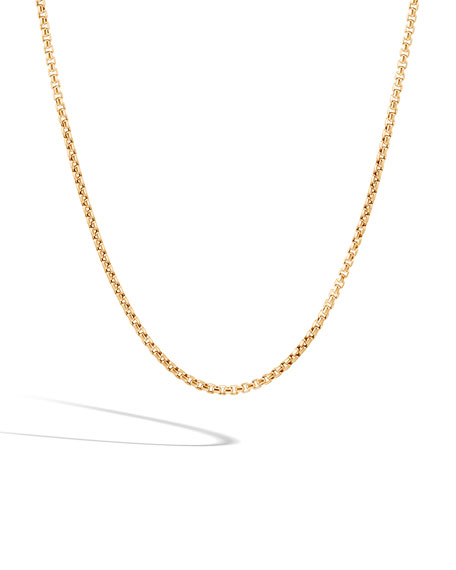 Men's Classic Chain 18k Yellow Gold Necklace