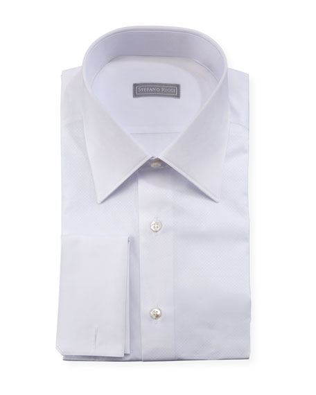 Pique French-Cuff Dress Shirt