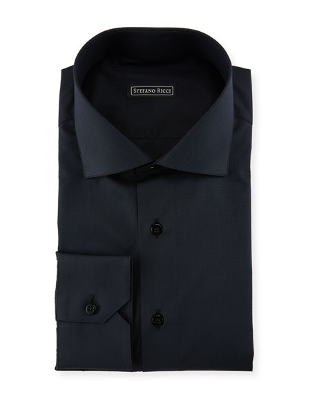 Tonal Piqué Dress Shirt