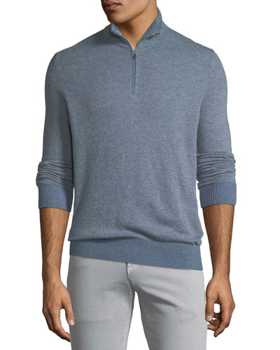 Roadster 1/4-Zip Cashmere Sweater, Aquifer