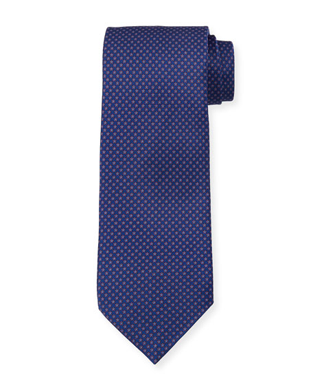Small Floral Silk Tie