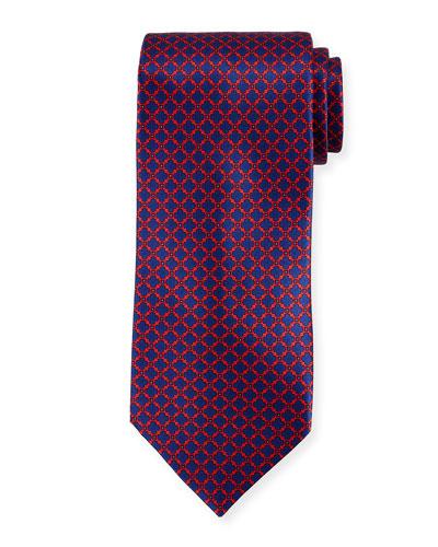 Medallion Pattern Silk Tie