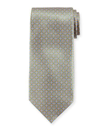 Small Medallion-Print Silk Tie