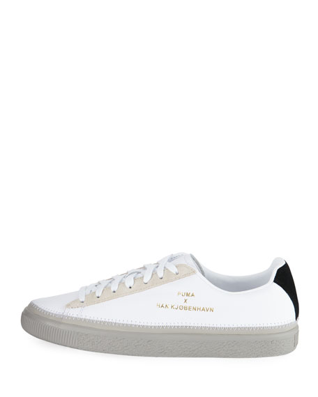 Basket Hand-Stitched Leather Creeper Sneaker