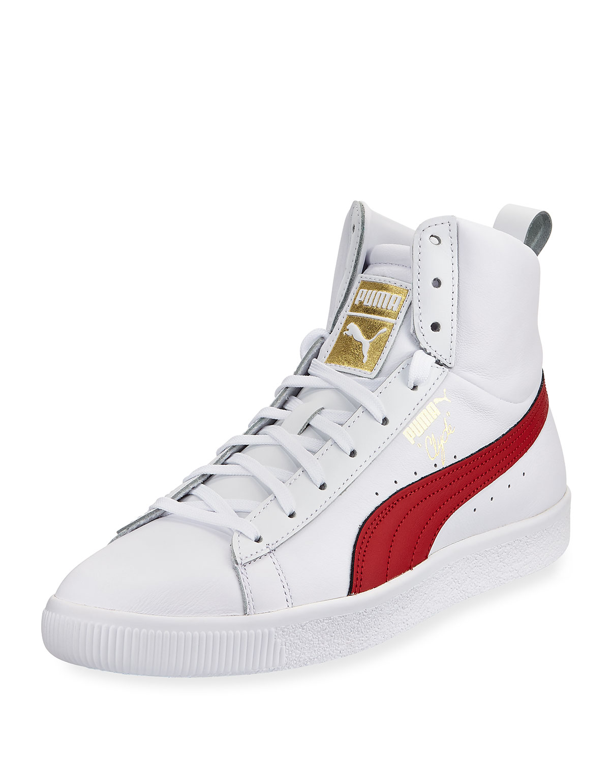 Puma Men s Clyde Mid Core High-Top Leather Sneakers cc0202dcf