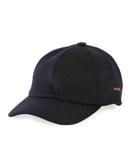 Cashmere Knit Baseball Cap
