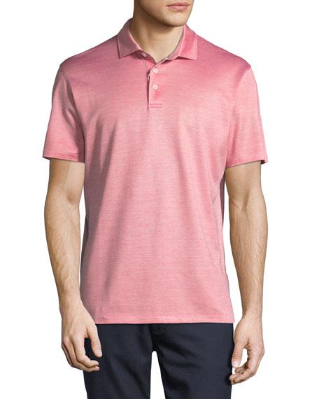Ermenegildo Zegna Silk-Blend Polo Shirt, Red