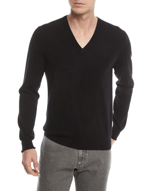 1dd6c8eb8a718 Ermenegildo Zegna Cashmere V-Neck Pullover Sweater