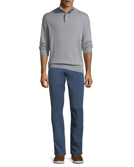 Casual Garment-Dyed Five-Pocket Pants