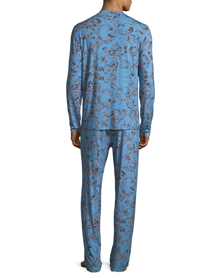 Barocco Medusa Paisley Pajama Set