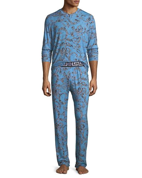 Versace Barocco Medusa Paisley Pajama Set