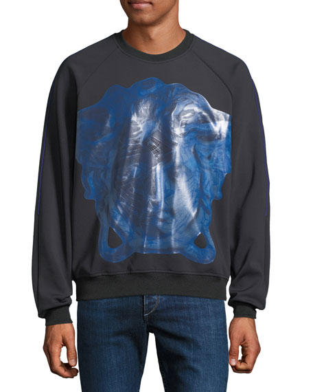 Versace Men's Dionysus Metallic-Graphic Sweatshirt