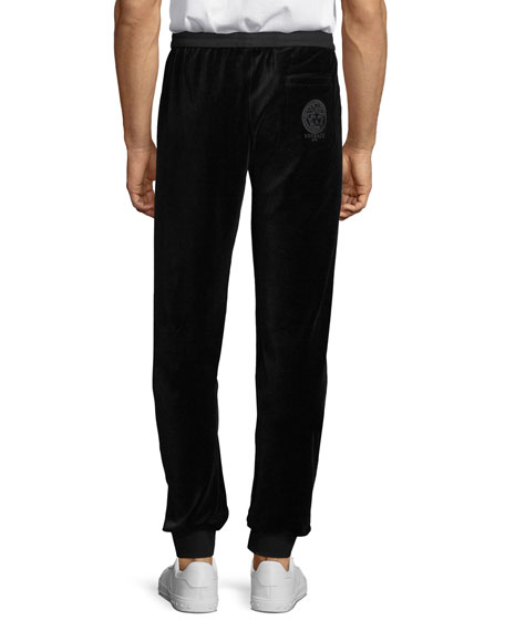 Men's Chenille Logo-Embroidered Pants
