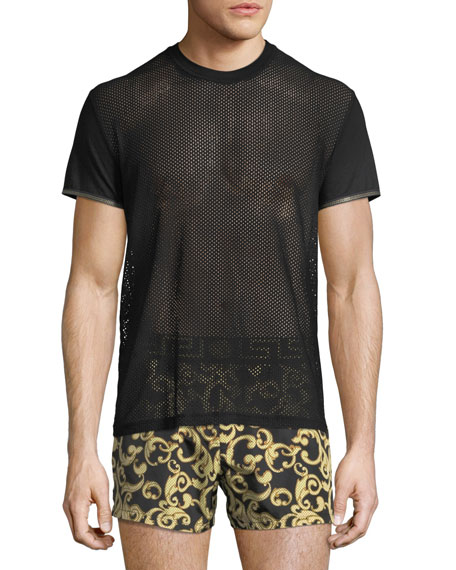 Versace Short-Sleeve Net T-Shirt and Matching Items