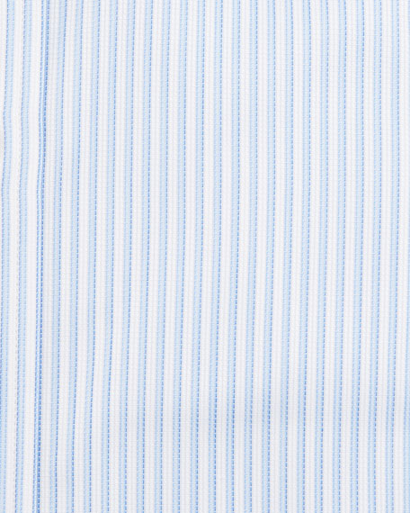 Striped Dress Shirt, White/Blue
