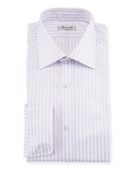 Charvet Striped Dress Shirt, Lavender