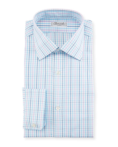 Charvet Plaid Woven Dress Shirt