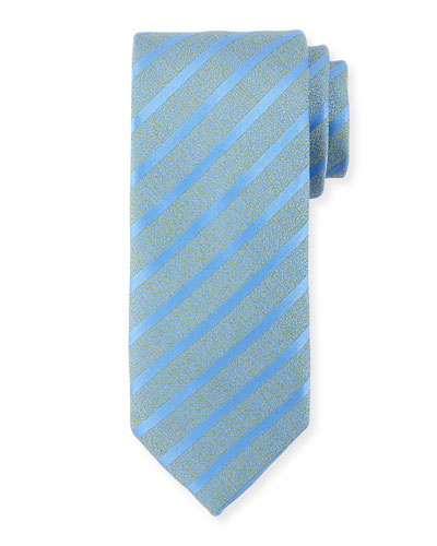 Melange Striped Silk-Blend Tie