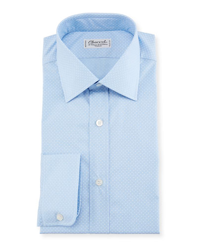 Small Dot Dress Shirt, Blue
