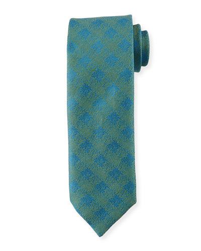 Melange Tattersall Silk-Linen Tie