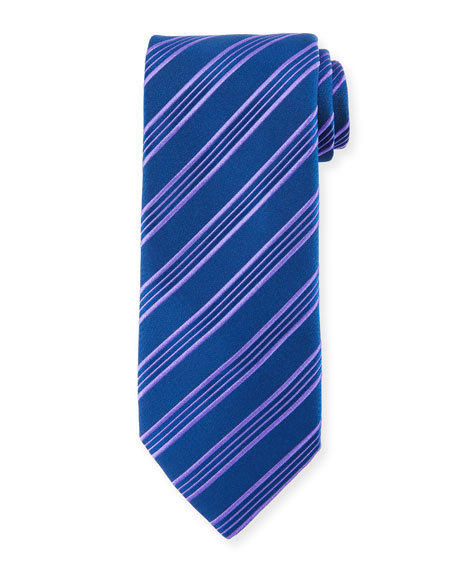 Charvet Border Stripe Silk Tie