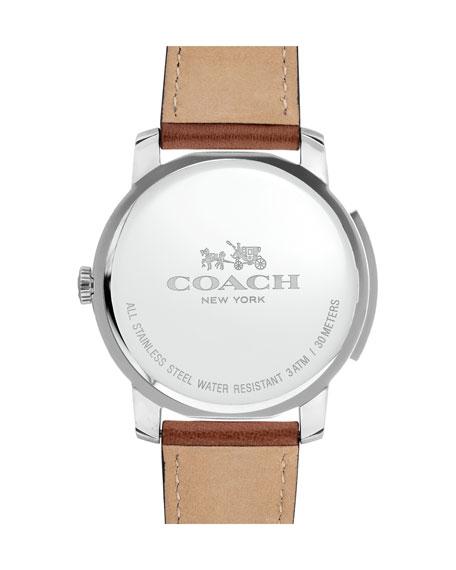 42mm Bleecker Slim Men's Watch, Brown/Blue