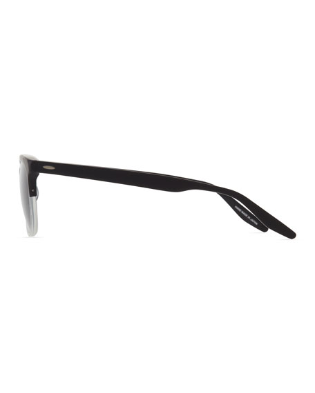Men's Sergei Two-Tone Matte Acetate Half-Rim Sunglasses
