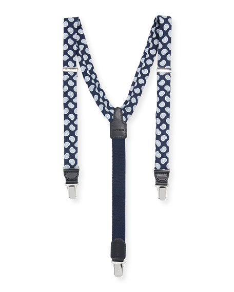 Etro Bretelle Paisley Silk Suspenders
