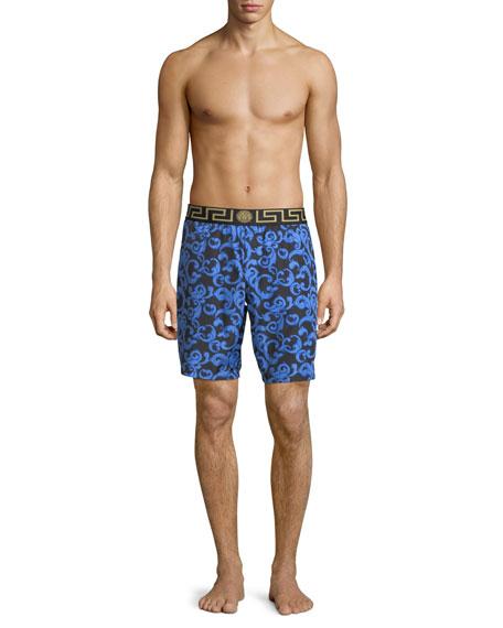 Barocco Net Long Swim Trunks