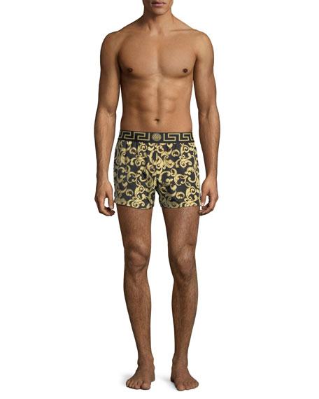 Barocco Net Short Swim Trunks