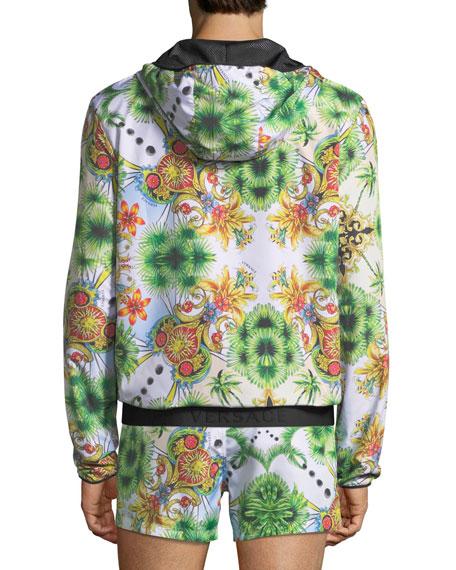 Miami-Print Zip-Front Jacket