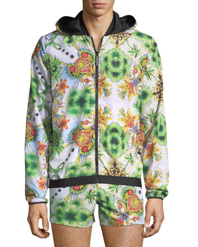Miami-Print Zip-Front Jacket