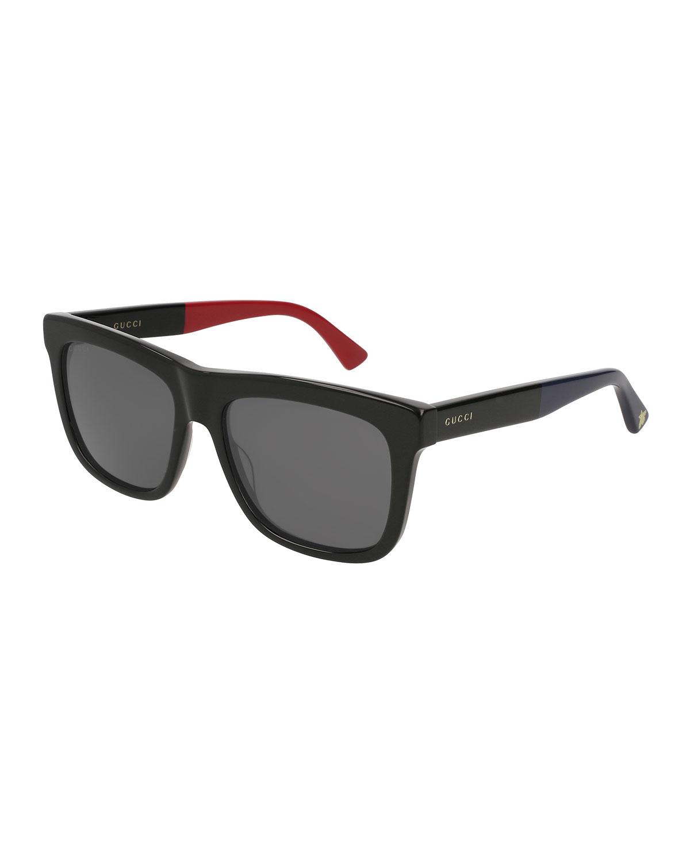 fdd582a6cb1 Gucci Rectangular Flat-Top Acetate Sunglasses