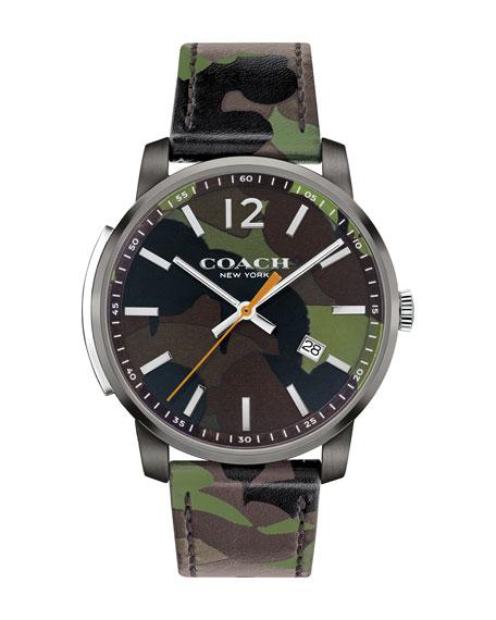 42mm Camouflage Bleecker Slim Men's Watch, Green