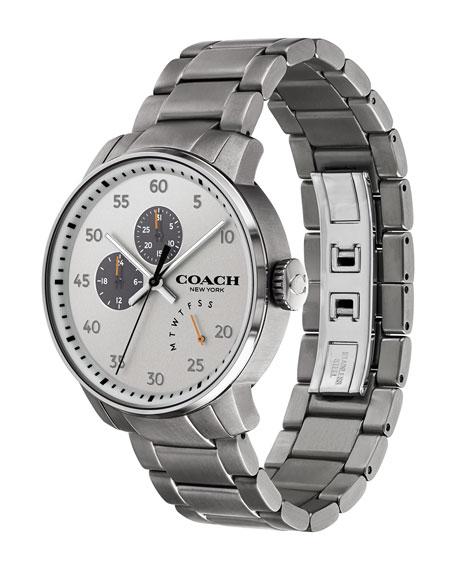42mm Men's Bleecker Leather Watch