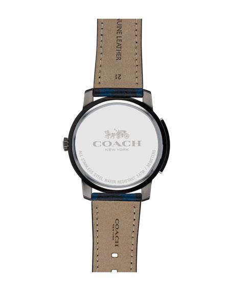 42mm Bleecker Slim Men's Watch, Blue