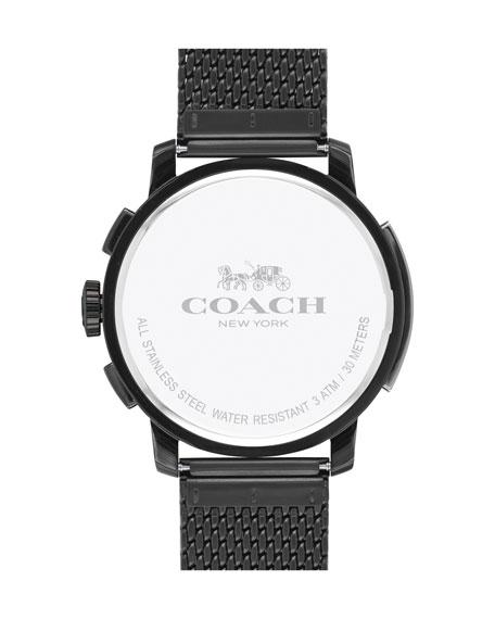 42mm Bleecker Chronograph Watch, Matte Black