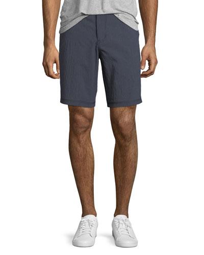 Triple-Needle Cotton-Twill Shorts