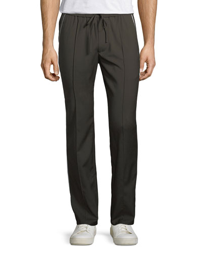 Track-Stripe Wool Trousers