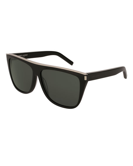 Flat Top Acetate Sunglasses