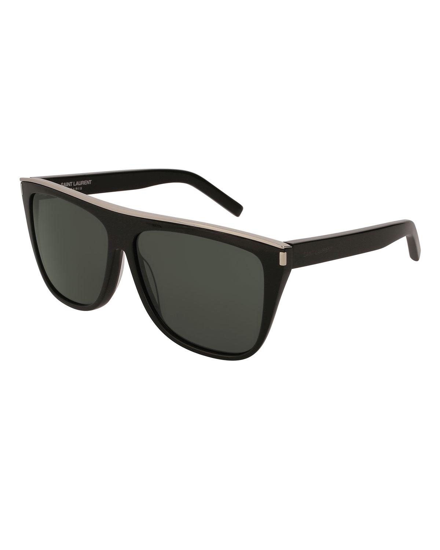 56e8c2b63e Saint Laurent Flat Top Acetate Sunglasses