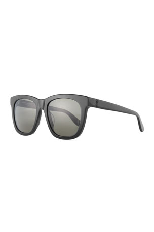 Saint Laurent Men's SL M24K Oversize Square Acetate Sunglasses