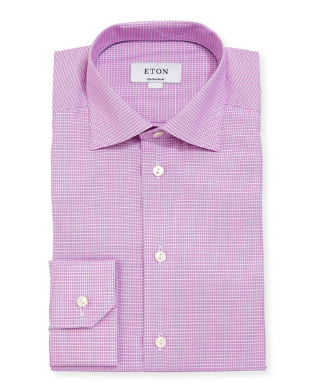 Eton Checked Cotton Dress Shirt