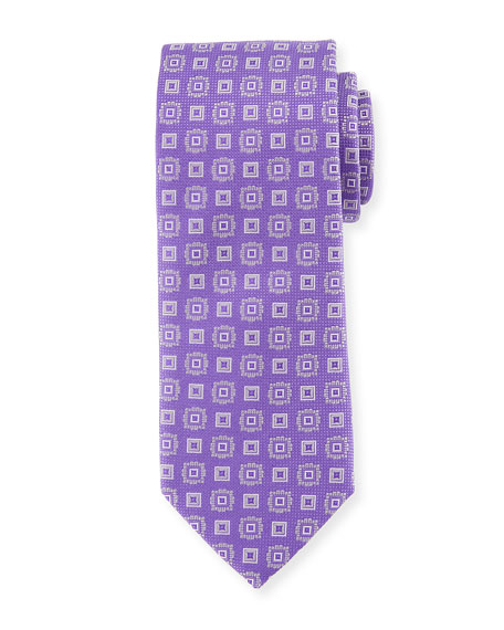 Square Medallion Silk Tie