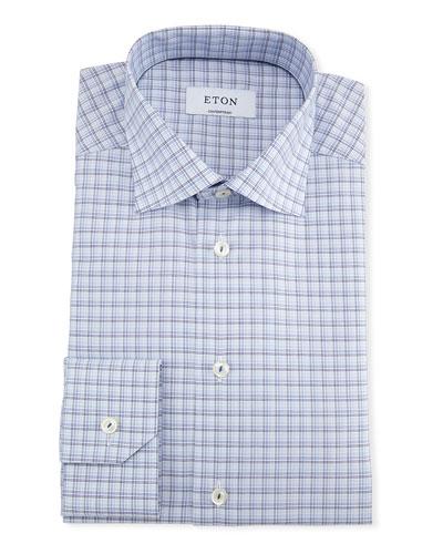 Men's Contemporary Fit Multi-Check Dress Shirt