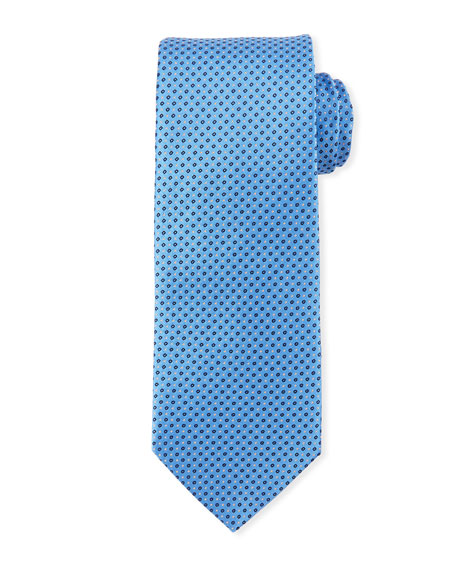Eton Mini Coffee Bean-Pattern Silk Tie